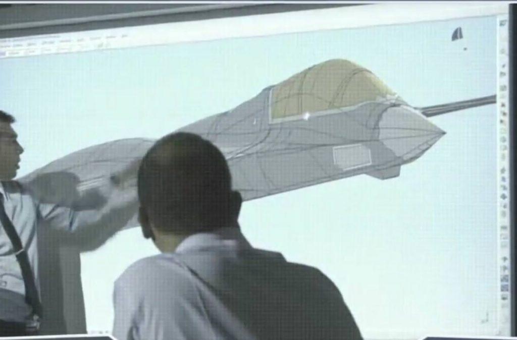 Sensores multifuncionais no nariz do conceito da Dassault