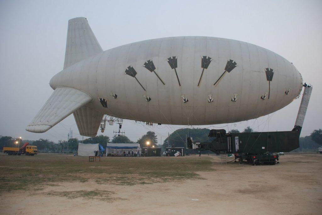 Aerostato da DRDO com radar EL M-2083