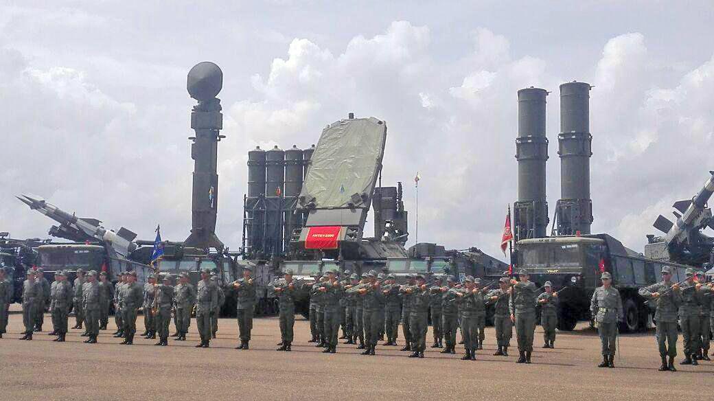 Sistema de defesa aérea S-300 da Venezuela, conhecido como SA-10 Grumble pela OTAN