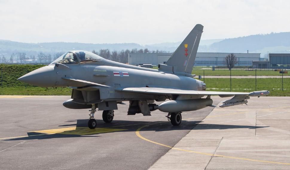 Eurofighter Typhoon na Suíça - Foto Armasuisse