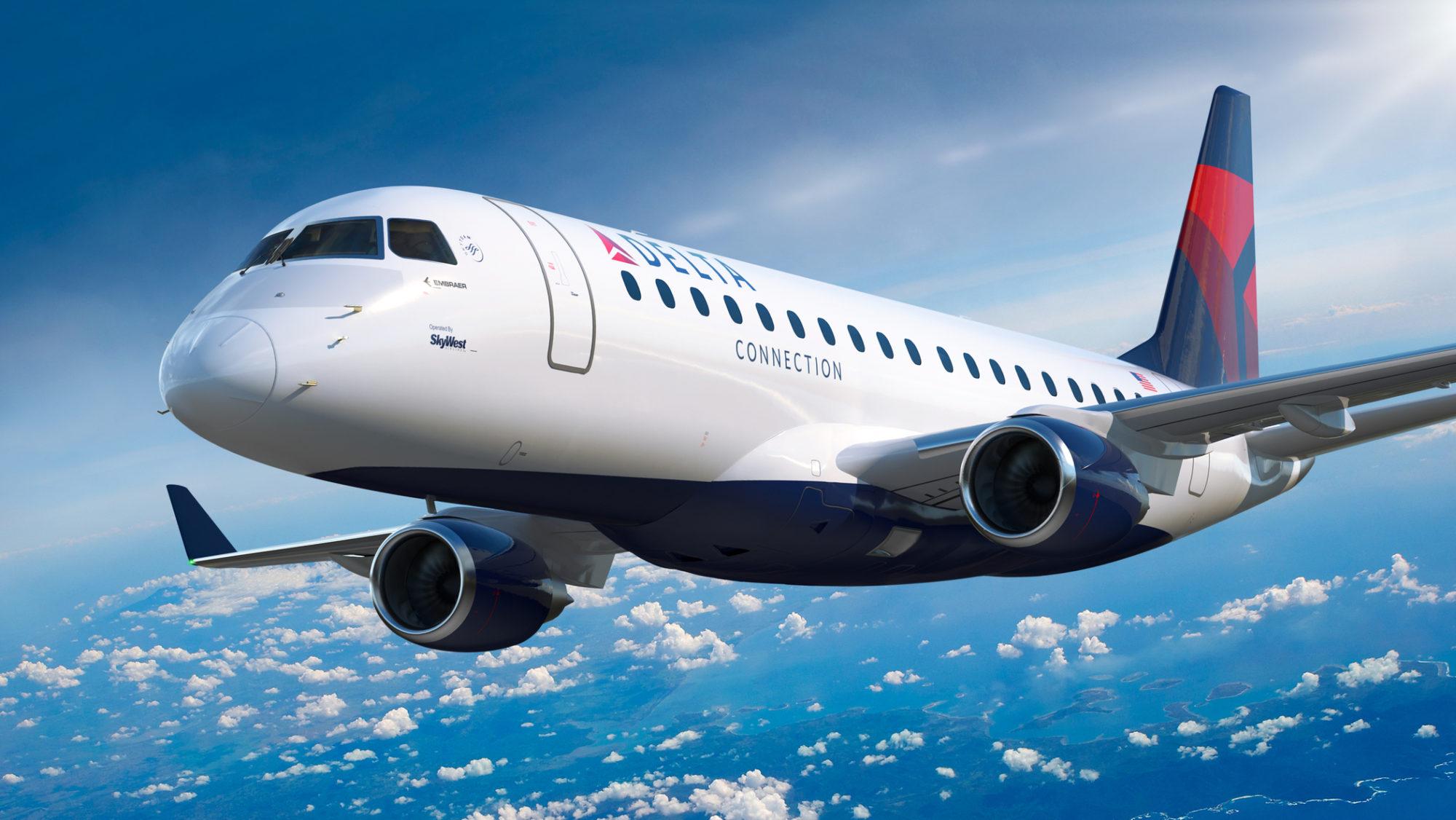 Embraer E175 nas cores da Delta