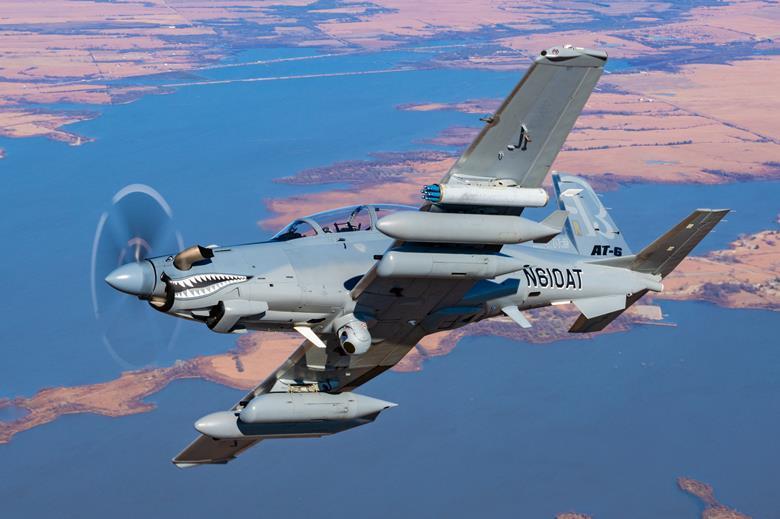 [Imagen: Textron-Aviation-Beechcraft-AT-6-Wolverine.jpg]