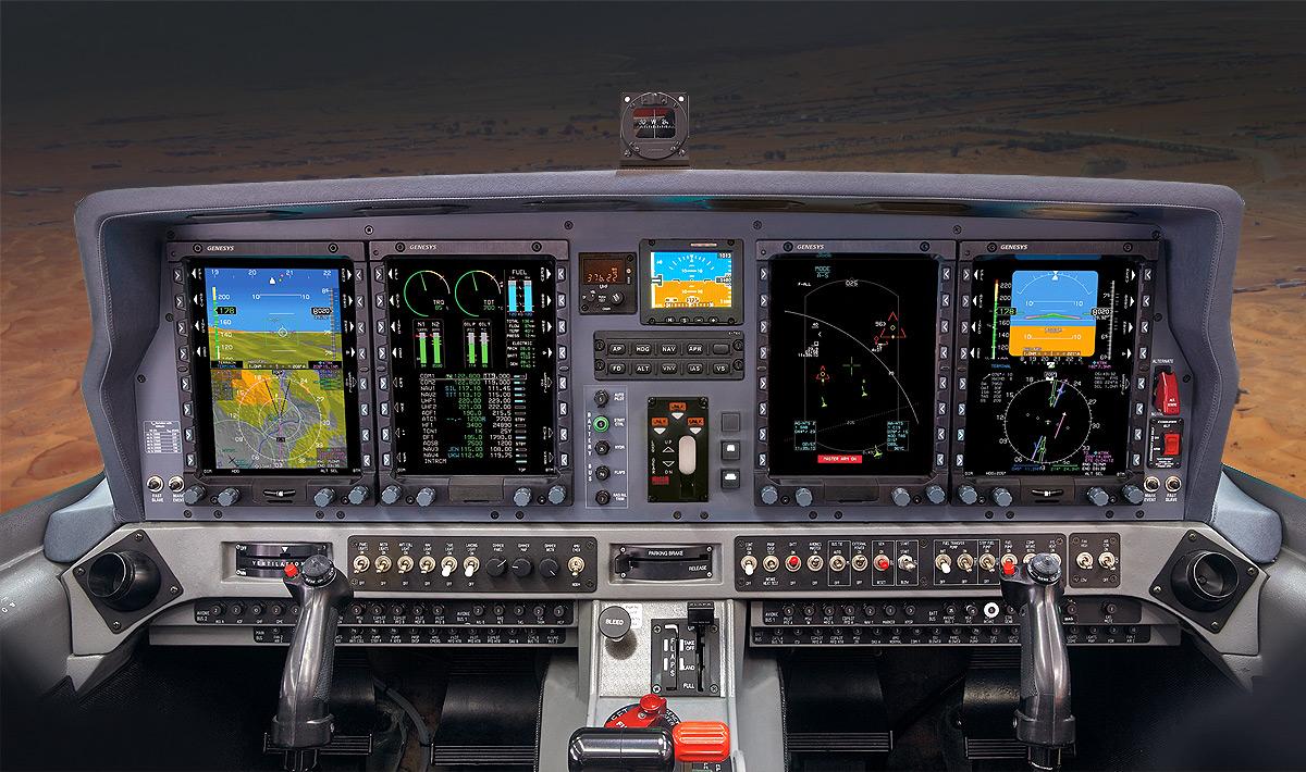 Cockpit do Grob G120TP