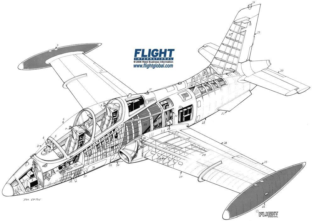 aermacchi-m-339-cutaway