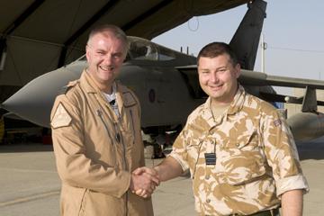 Troca 12 squadrom e 31 squadrom no Afeganistão - foto RAF