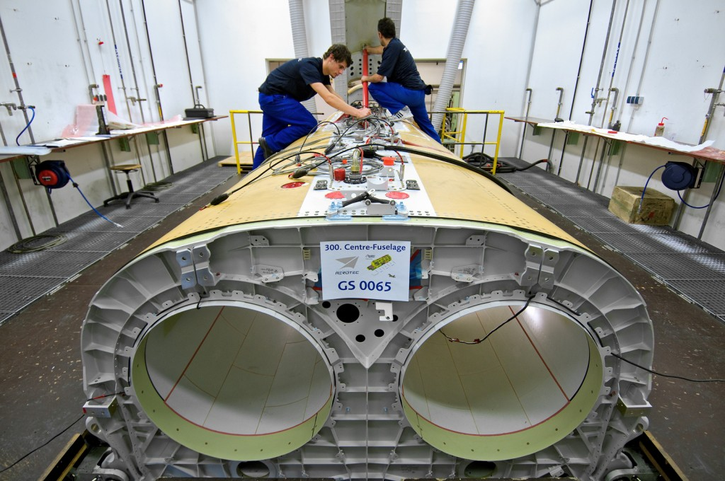 300th centre fuselage section eurofighter assembly - premium aerotec