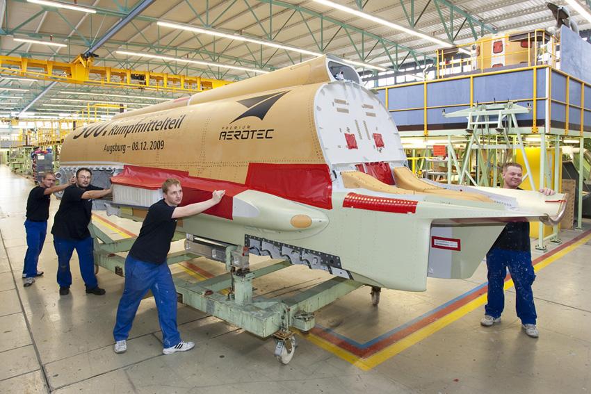 300th centre fuselage section eurofighter - premium aerotec