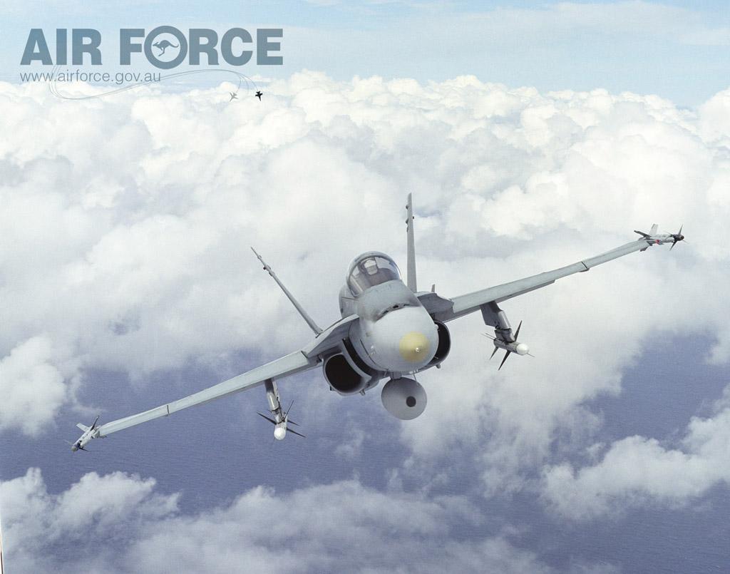 Hornet australiano com mísseis - foto 2 RAAF