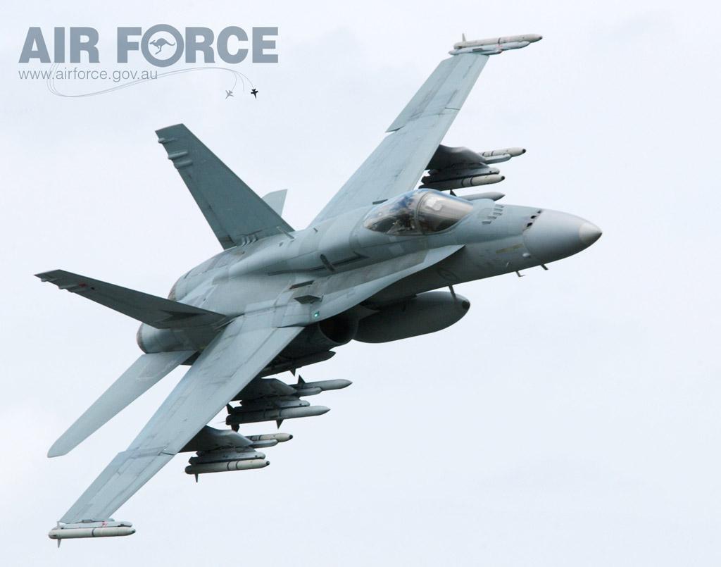 Hornet australiano com mísseis - foto RAAF