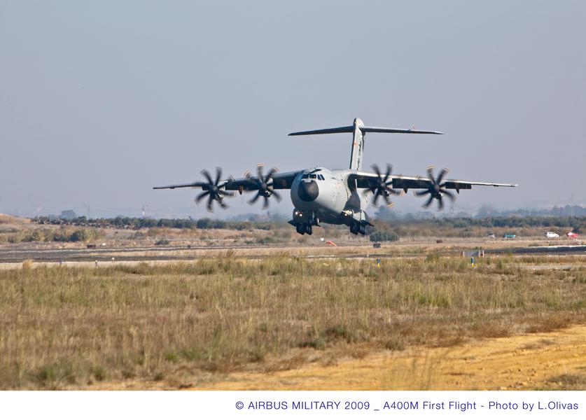 A400M pousando - foto 3 Airbus Military