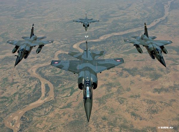 Mirage F1 - Tchad - formação - foto armee de lair