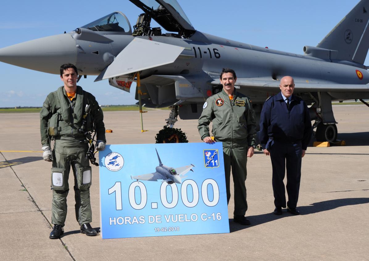 Typhoon - 10000 horas Forca Aerea Espanhola - foto Ejercito del Aire