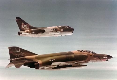 A-7D 71-309 MB & F-4E 67-266