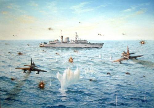 Ataque à HMS Broadsword - Carlos A Garcia