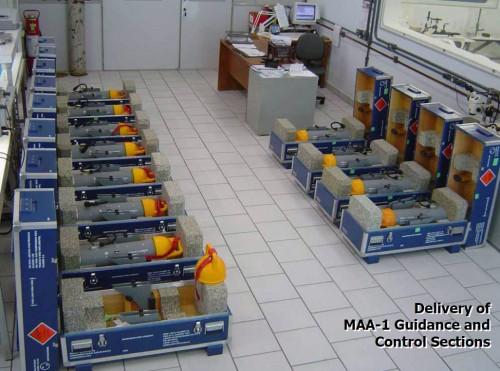 Seção de guiagem e do Controle MAA-1 prontas para a entrega na Mectron