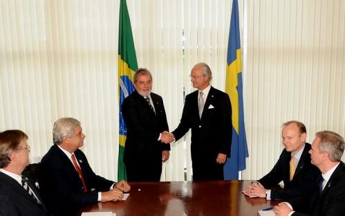 presidente Luiz Inácio Lula da Silva e rei da Suécia, Carl XVI Gustaf - foto W Dias - Agência Brasil