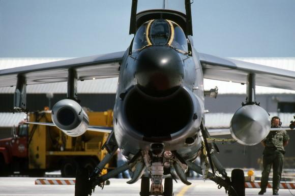 xA-7D with FLIR pod head on view