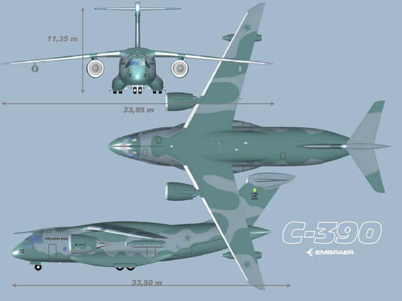 KC-390 - imagem 3 vistas