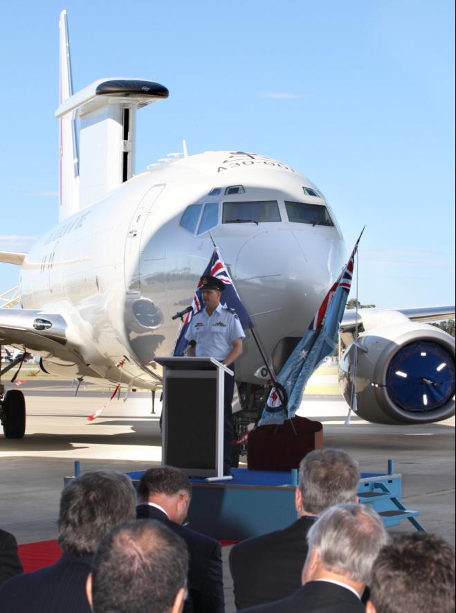 Recebimento Wedgetail RAAF - foto DoD Australia