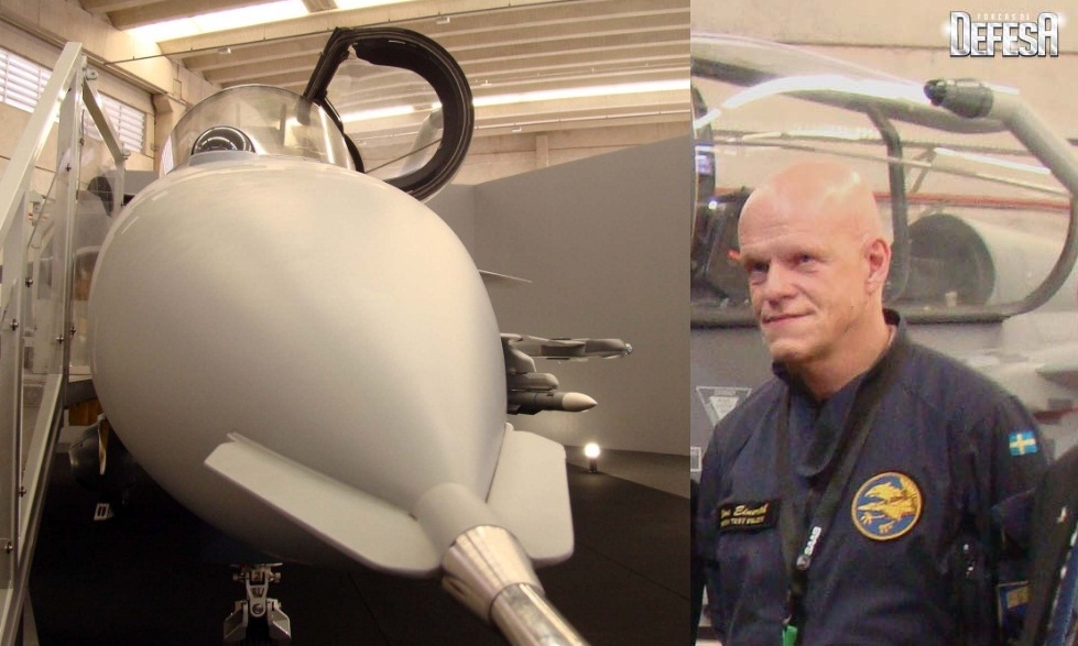 Replica-Gripen-e-piloto-Hans-Einerth-fot